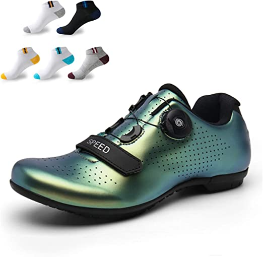 XFQ Zapatillas De Ciclismo De Los Hombres, Zapatos De Bicicleta ...