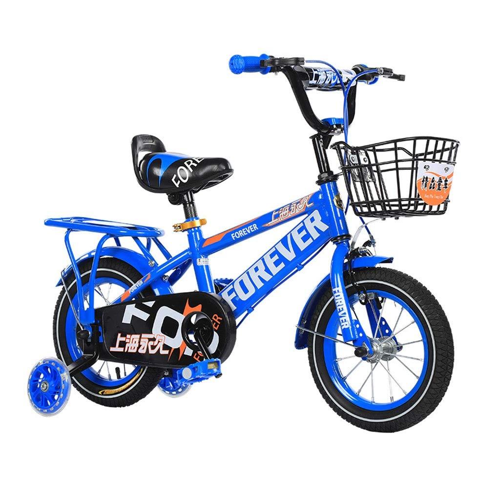 Blau 16IN Kids'Bikes Lijianfeng Kinderfahrräder für 2-12 Jahre Kinder Outdoor-Sportfahrräder Jungen und Mädchen gehen zur Schule Fahrräder Balancing Hilfsrad Sportfahrräder Kinder geben
