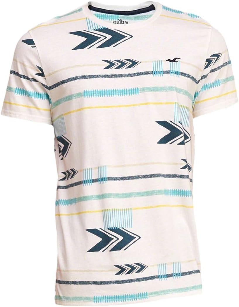 Hollister - Camiseta - Camiseta - Manga corta - para hombre Blanco blanco L: Amazon.es: Ropa y accesorios
