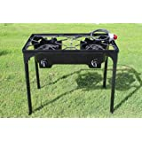 CONCORD Double Burner Outdoor Stand Stove Cooker w/ Regulator Brewing Supply