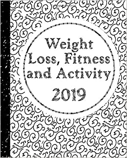 weight loss fitness and activity 2019 with coloring feature