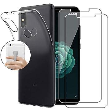 Coqin Funda para Xiaomi Mi A2 + [2 Pack] Vidrio Templado Cristal ...