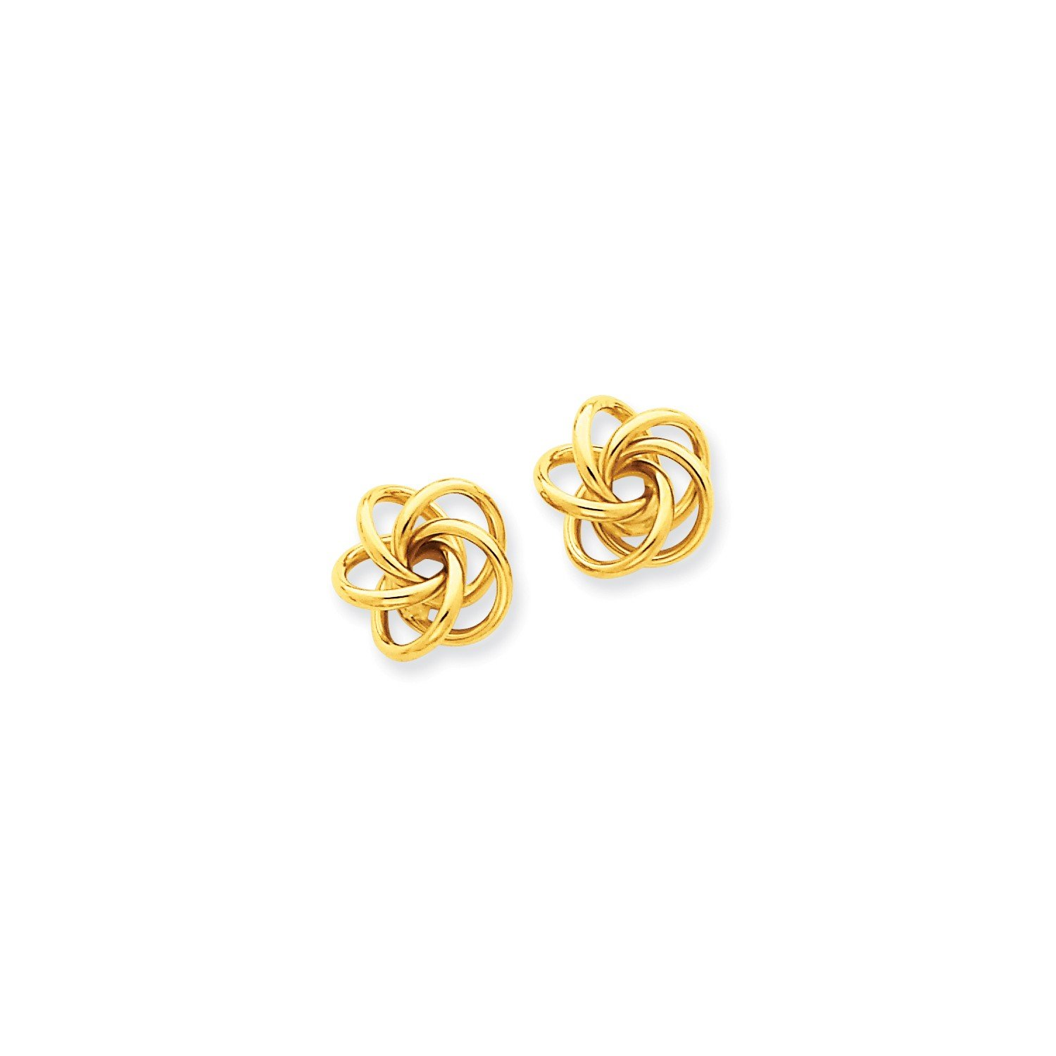 Roy Rose Jewelry 14K Yellow Gold Love Knot Earrings 10mm length