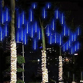 Amazon.com : SurLight LED Falling Rain Lights with 30cm 8 Tube 144 ...