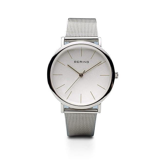 BERING Reloj Analógico para Unisex Adultos de Cuarzo con Correa en Acero Inoxidable 13436-001: Amazon.es: Relojes