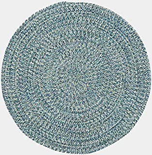 """product image for Capel Rugs Sea Pottery Blue 7' 6"""" Round Braided Rug"""