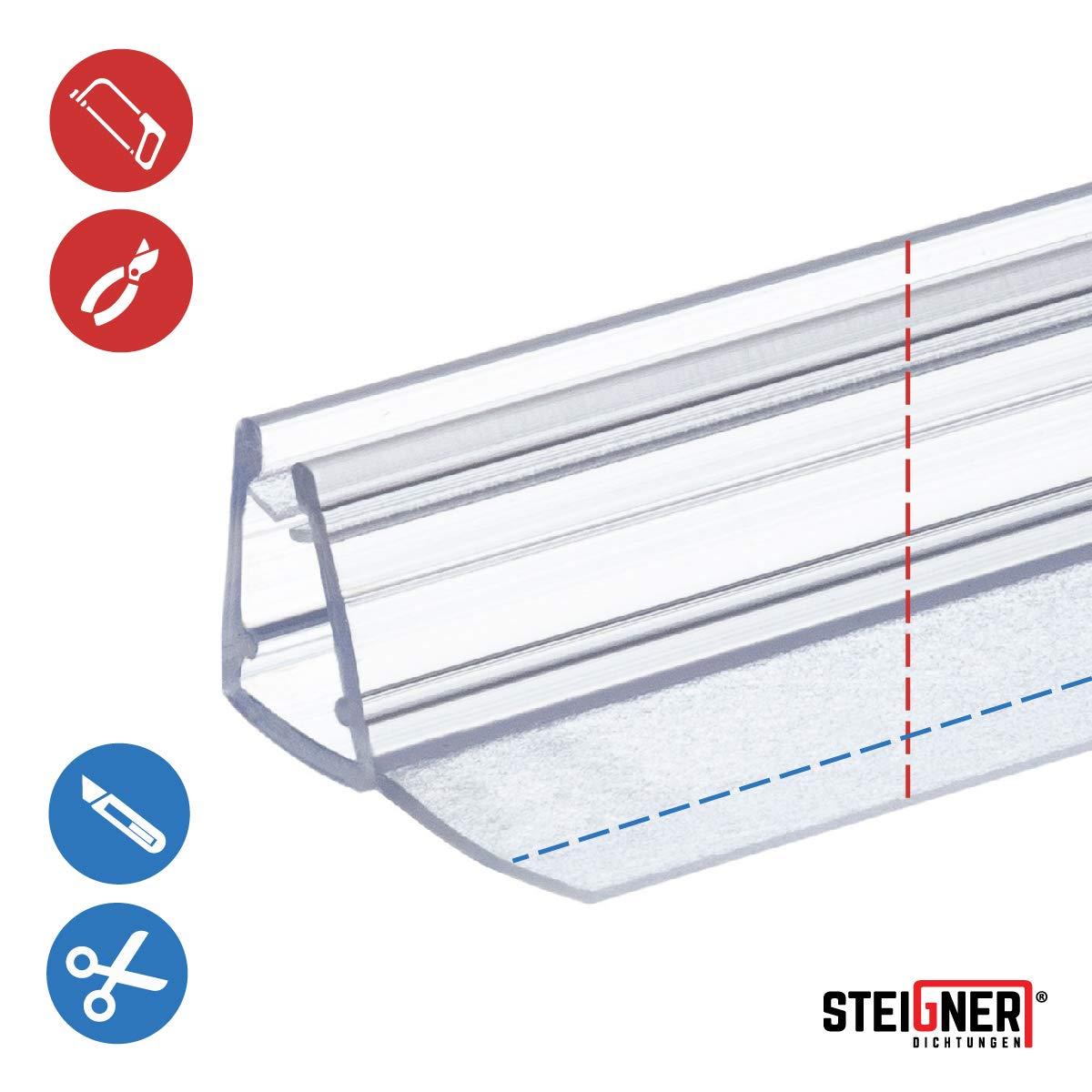 Joint d/étanch/éit/é de rechange pour verre de douche d/épaisseur 3,5mm// 4mm// 5mm protection surtensions de cabine de douche UK01 100cm