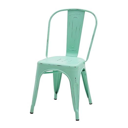 Fashion Commerce 02-fc572 Juego de 2 sillas Mod. tolix Verde ...