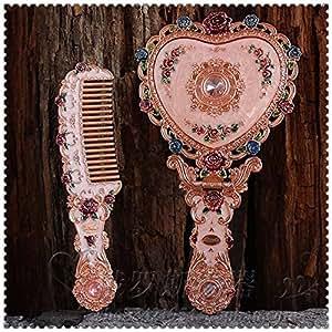 Espejos de pie decorativos antiguo ba o vintage de mano vanidad peine copas peine combo amazon - Espejos decorativos amazon ...