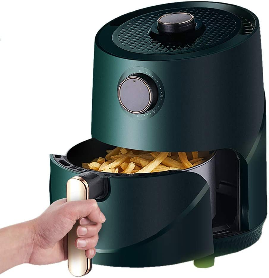 PJPPJH Air Fryer with Rapid Air Circulation System, Timer and Adjustable Temperature Control for Healthy Oil Free or Low Fat Cooking, 1000W-2.8L