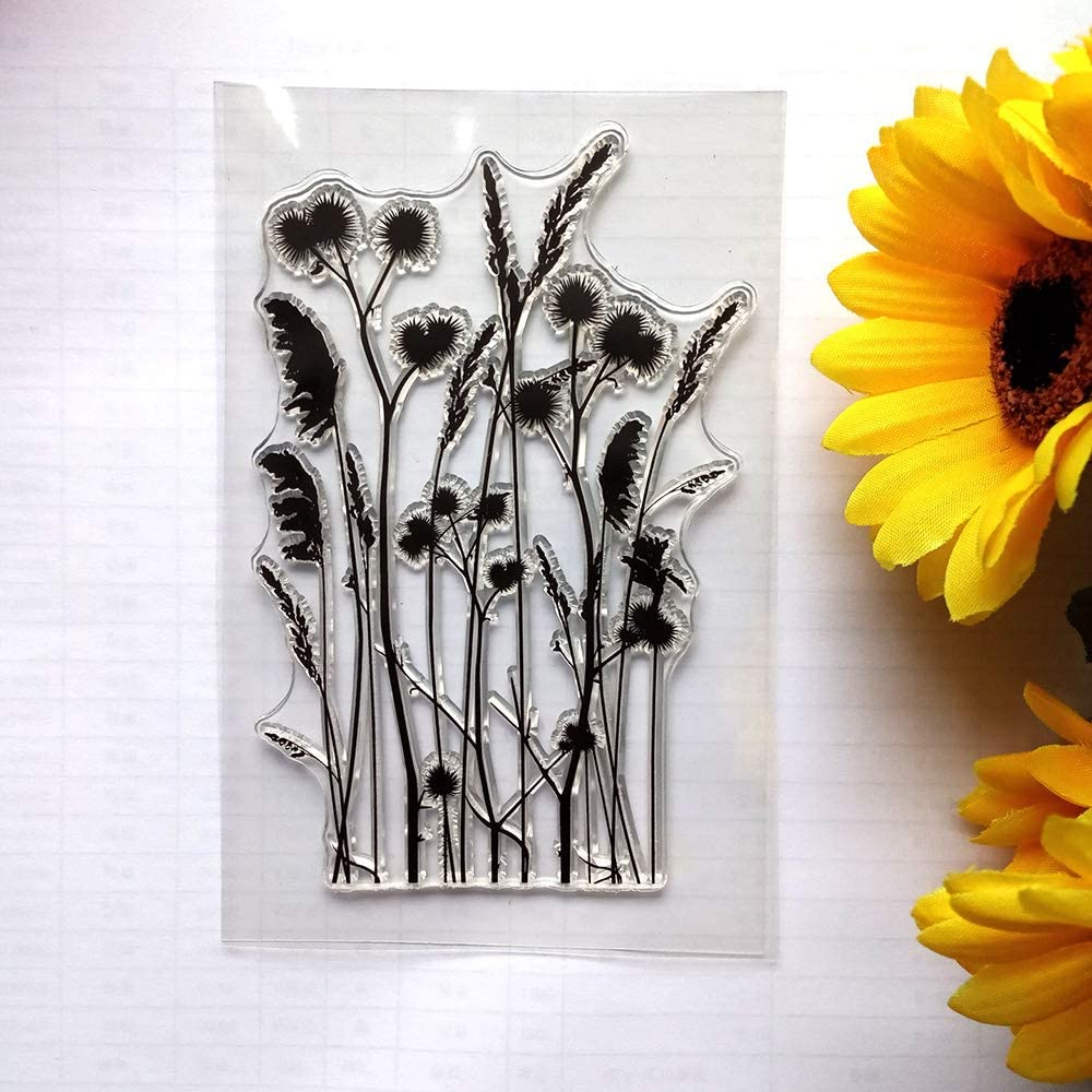 Plant Flowers Dandelion Silicone Clear Stamps for Card Making DIY Scrapbooking Paper Craft Decorative