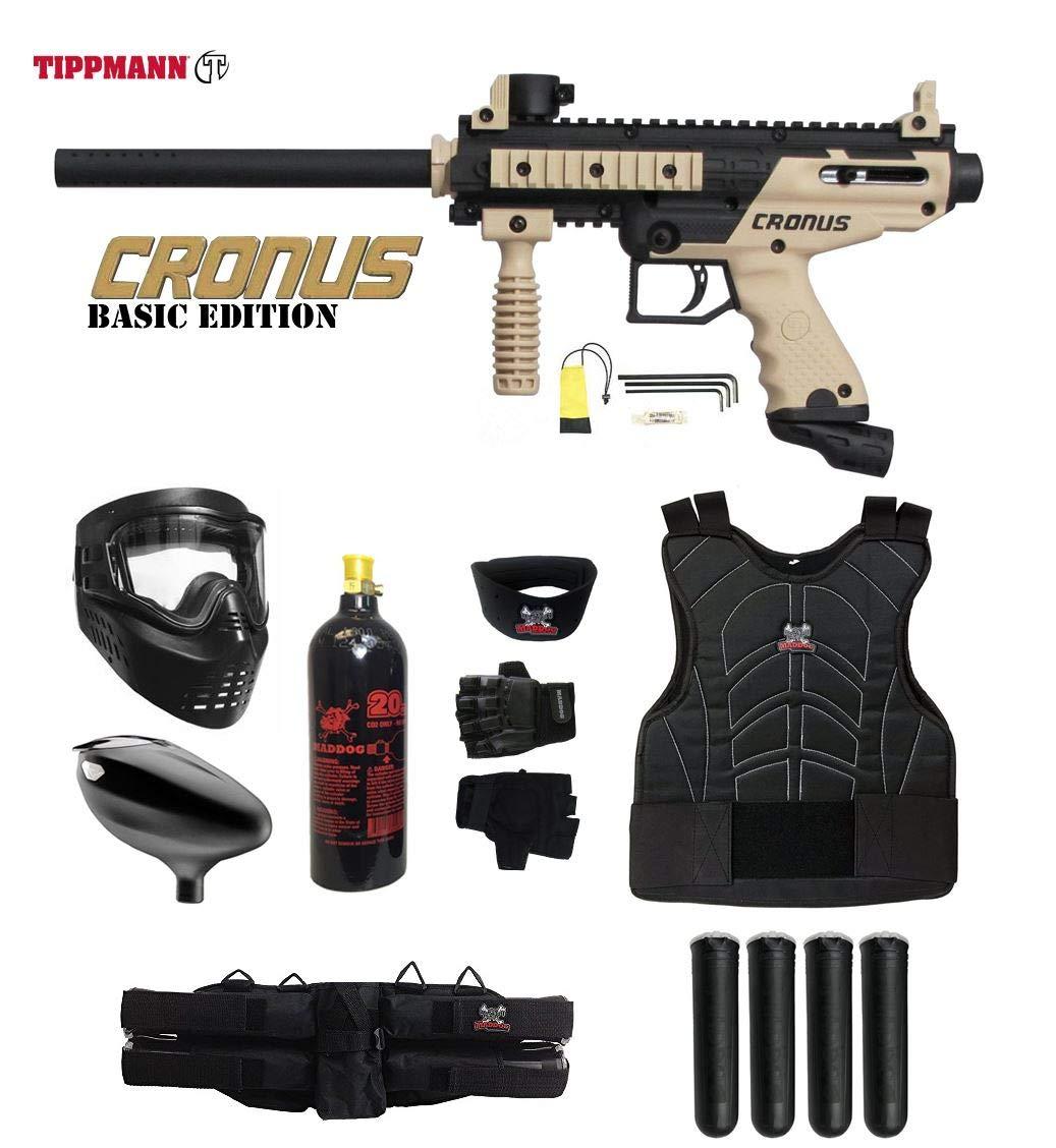 Maddog Tippmann Cronus Starter Protective CO2 Paintball Gun Package - Black/Tan by Maddog