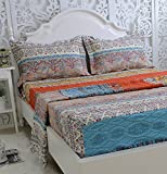 Brandream Luxury Bed Sheet Set 100% Cotton Sheets Set Boho Bedding 4Pcs-King