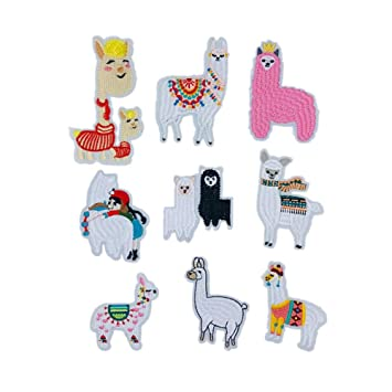 Amazon.com: Parches de Alpaca bordados Llama oveja planchar ...