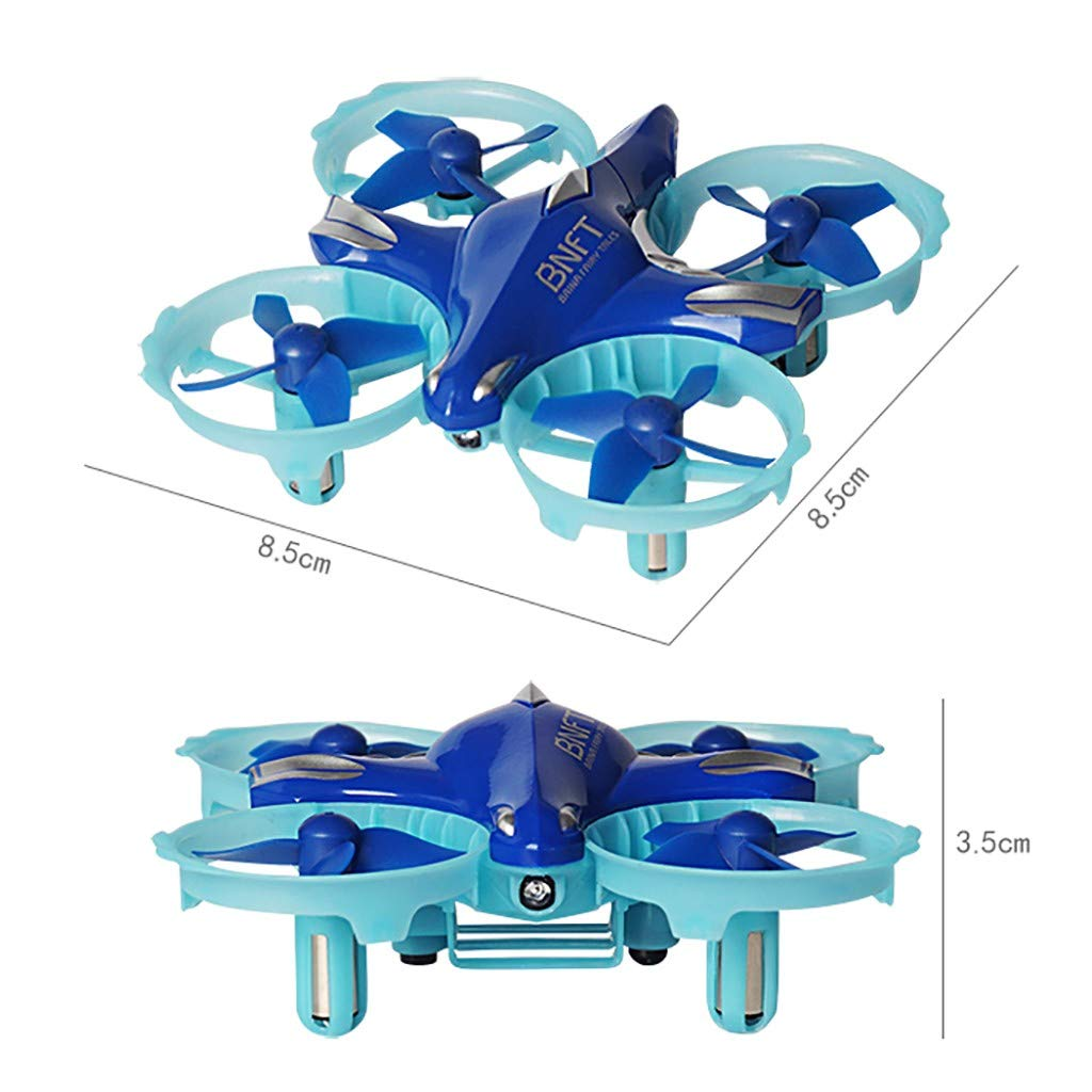 Amazon.com: LtrottedJ Mini BNFT BN308 Infrared Remote Control Drone RC Quadcopter Headless Mode: Toys & Games