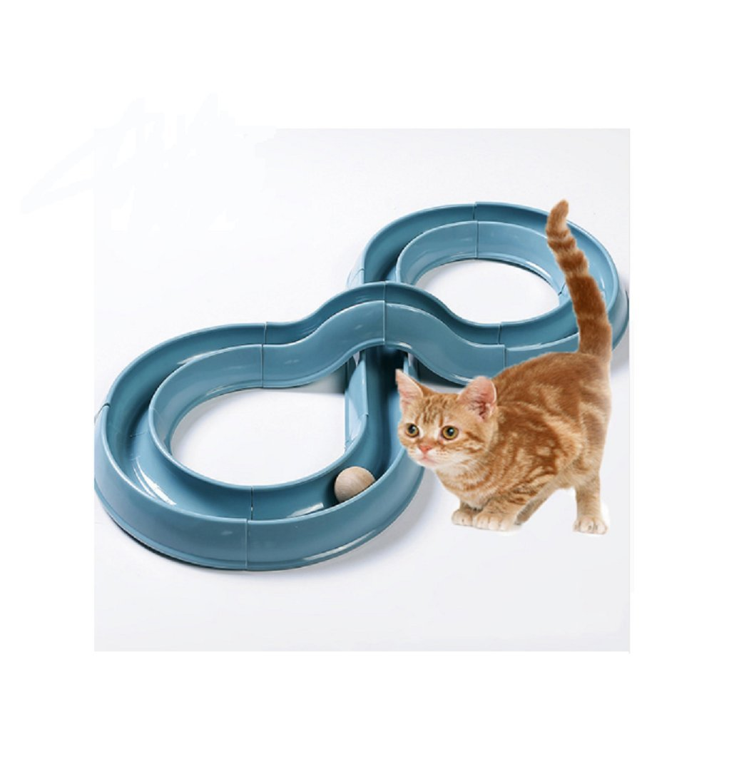 HOT Sale! 2017 Creative Cat Toys Funny Puppy Pet Orbital Shaped Toys Intelligence Training Cat Toy Balls Disk Play Activity Game