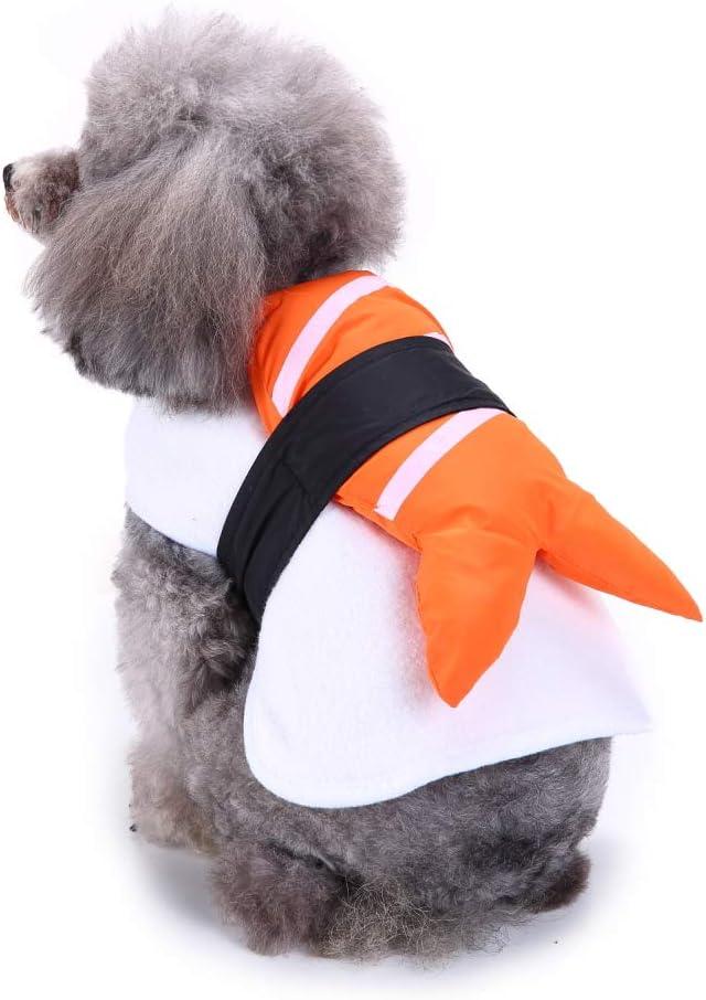 Sushi Dog Costume Halloween Fish Food Funny Pet Costume