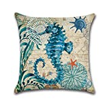 Weiliru Woven Fine Burlap Lined Linen Throw Pillowcases Cushion Covers for Sofa Decor, 18×18inch