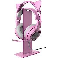 Różowy stojak na słuchawki, uniwersalny stojak na słuchawki, uchwyt na słuchawki, ekspozycja wieszak aluminiowy do gier…