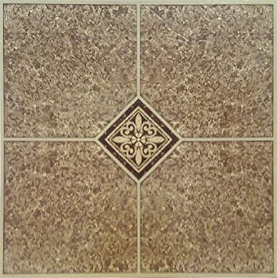 Home Dynamix 1005 Dynamix Vinyl Tile, 12 by 12-Inch, Brown, Box of 20