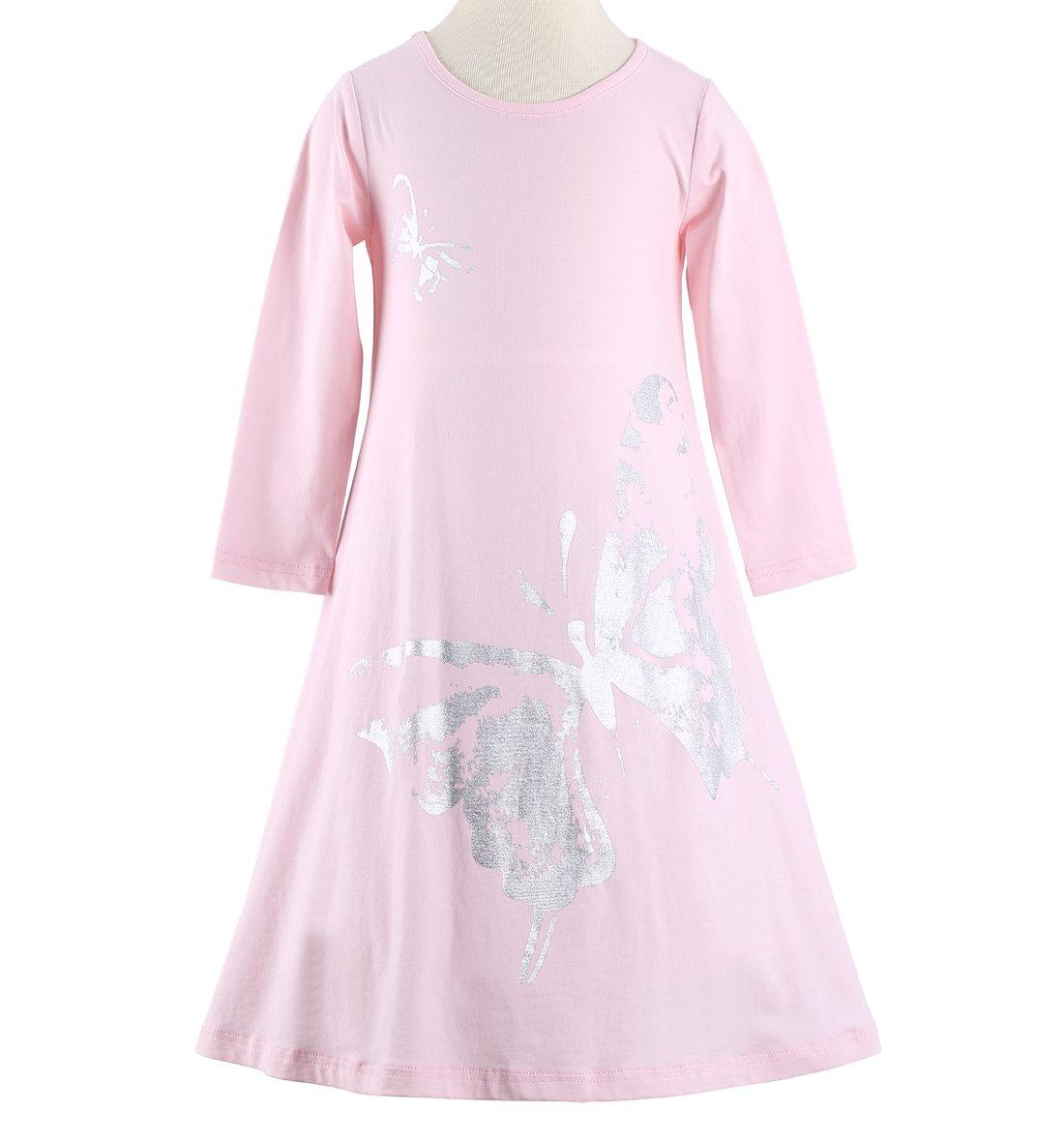 Happy B00PFYQ6X6 Rose Niñas Butterfly Butterfly Print vestido Happy ...