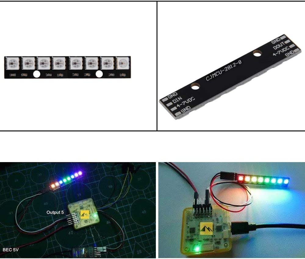 WS2812 5050 RGB LED Panel 8-Bit LED Development Board Built-in Full Color-Driven Development Board