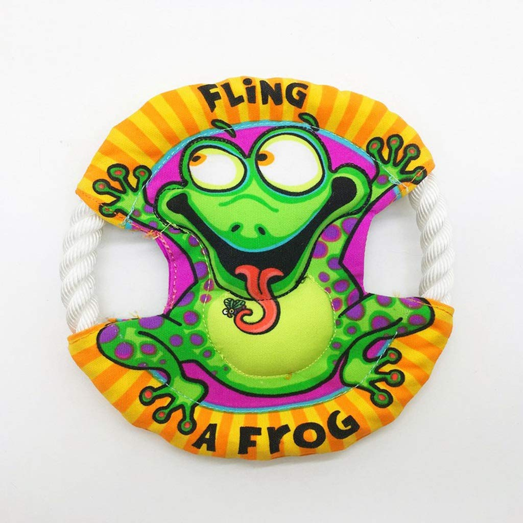 Cotton Rope Dog Toys 22cm Diameter Color : A OHGQY Animal Shaped UFO Canvas Cotton Rope Toys Pet Frisbee Oxford Cloth