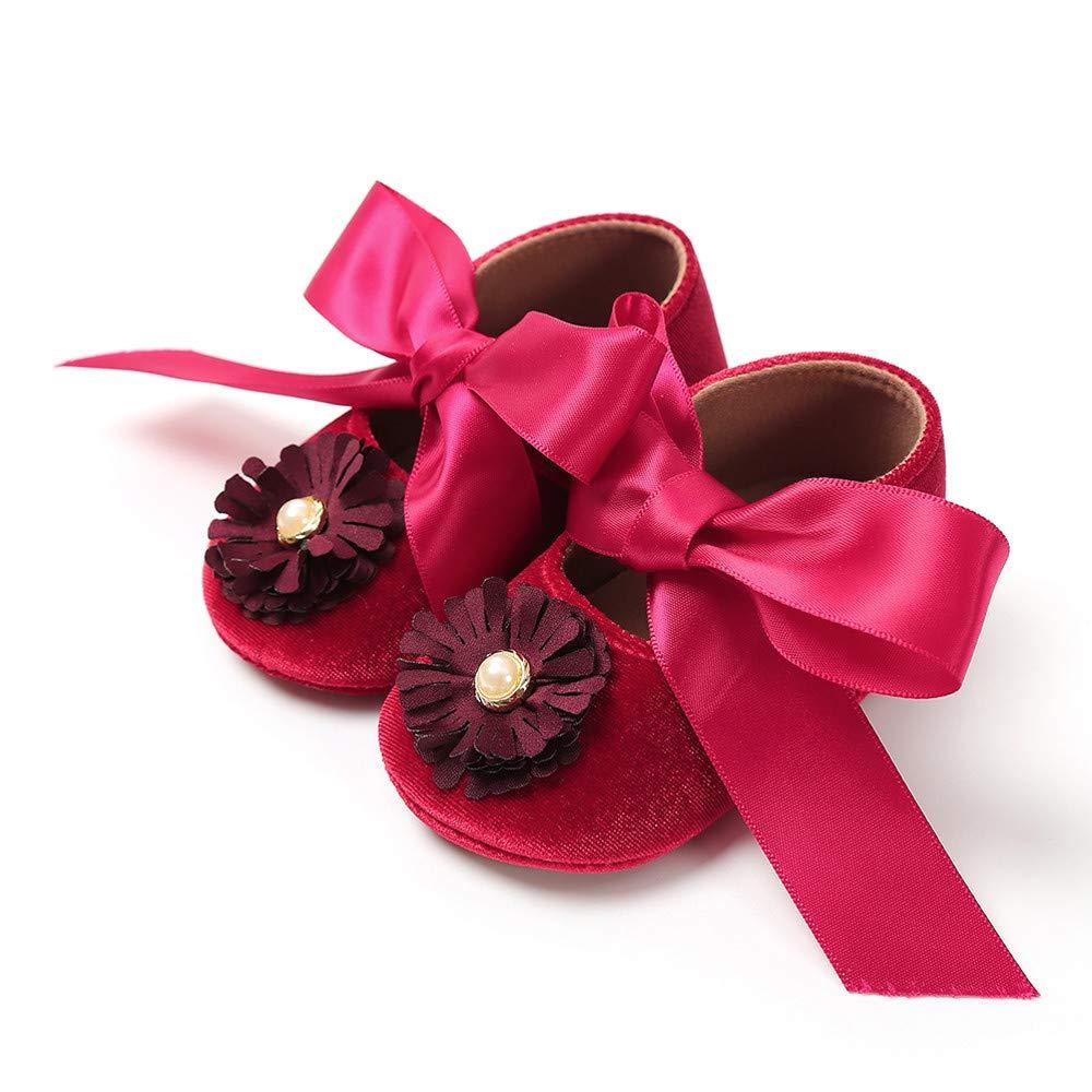 Zolimx Beb/é Ni/ña Vendaje Terciopelo Zapatos Moda Reci/én Nacidos Primeros Caminantes Ni/ño Zapato Zapatos Bebe Ni/ña Bautizo