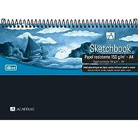Caderno Sketchbook Espiral Capa Plástica A4 Académie, Tilibra