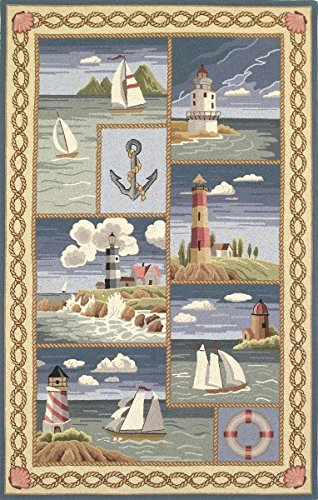 Colonial Coastal Views Nautical Rug from Wayfair!