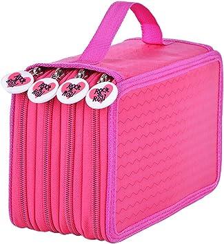 STOBOK Lápiz de Dibujo Estuche de Lona 72 Agujeros Portátil Plegable Dibujo Lápices de Dibujo Cremallera Estuche de lápices para niños y niñas (Patrón de Amor Rojo Rosa): Amazon.es: Electrónica
