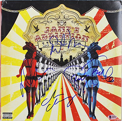 Jane's Addiction -Farrell, Navarro +2 Signed Autographed Live In Nyc Album Cover Bas #A11513 - Certified Certified