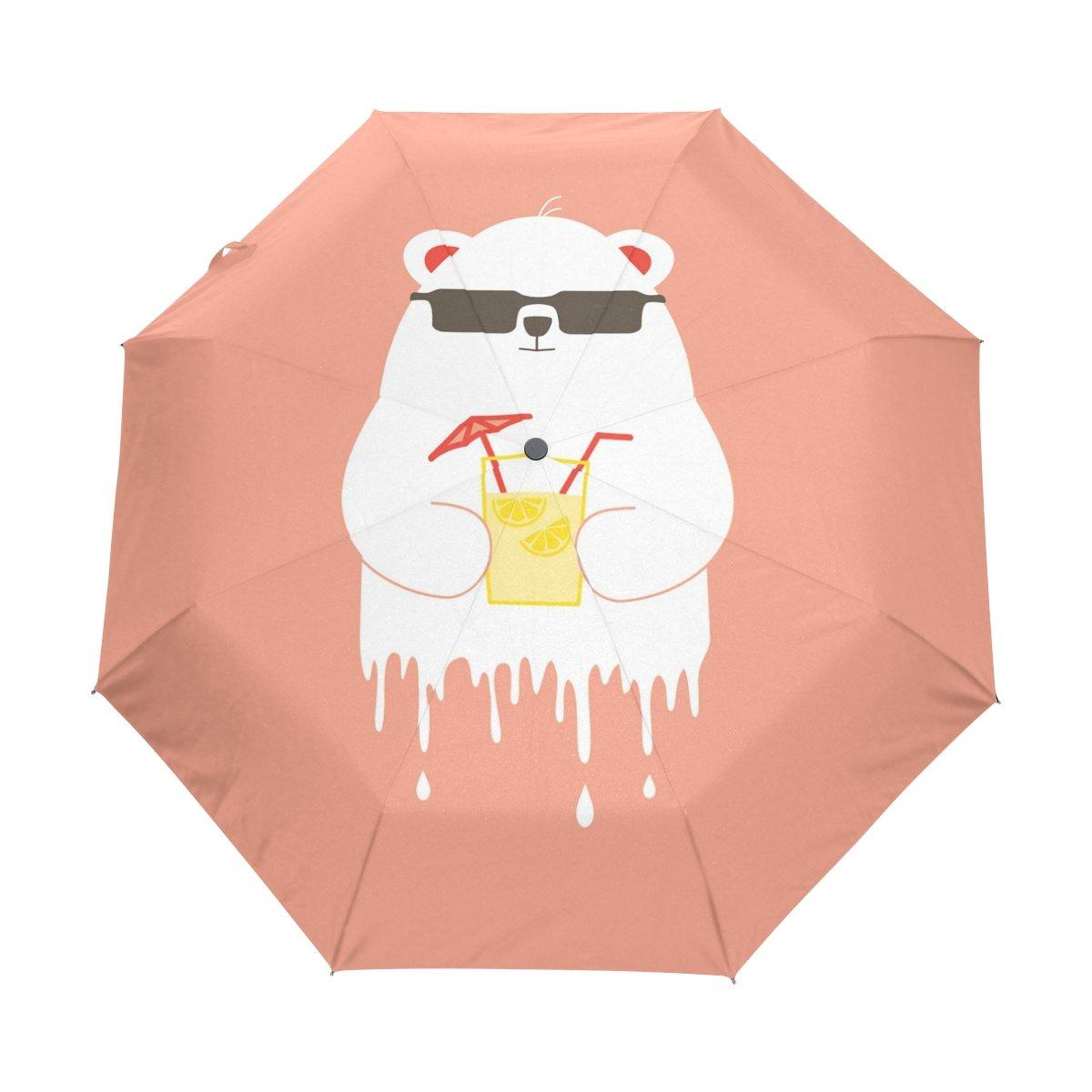 Senya Saobao防風と防雨トラベル傘with自動開いて閉じFolding Bearポータブル折りたたみ式太陽雨傘 B07FDWVQ77