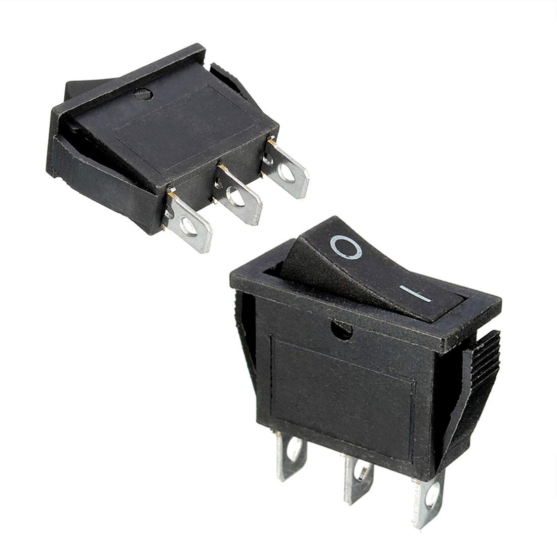Willwin 10Pcs KCD3-3P Green Illuminated Light 3Pin SPST On//Off Rocker Switch AC 16A//250V 20A//125V