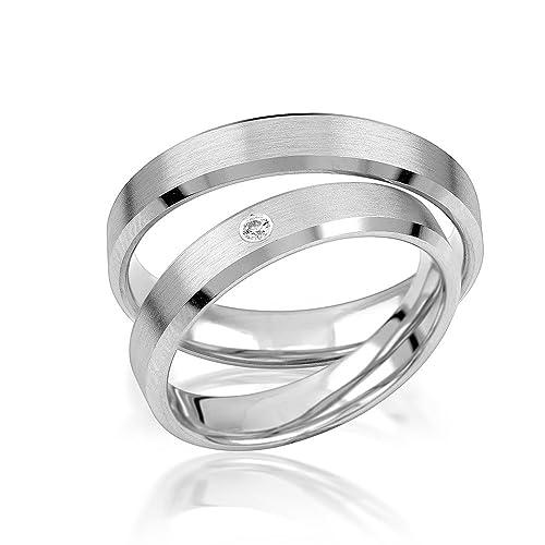 alianzas alianzas de anillos de compromiso Amistad Anillos Plata de ley 925 * Incluye Funda y