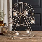 Rustic Farmhouse Theme Country Living Home Decor Ferris Wheel Candle Holder