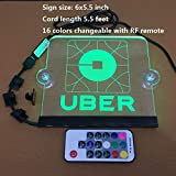 Uber Sign Uber Light up Sign LED Sign 5.5ft Cord Wirless Remote 16 Colors Changed Size5.9x5.5in. 5V Acrylic Engraving Sign