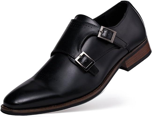 Zapatos estilo Monje de Doble Hebilla para Hombre find