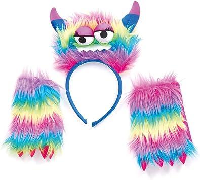 Conjunto monstruo del arco iris de colores monstruos diadema con ...
