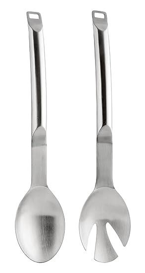 Berghoff Eclipse - Juego de Cubiertos para Servir Ensalada, Ensalada de Acero Inoxidable Cuchara y Tenedor, Plata: Amazon.es: Hogar