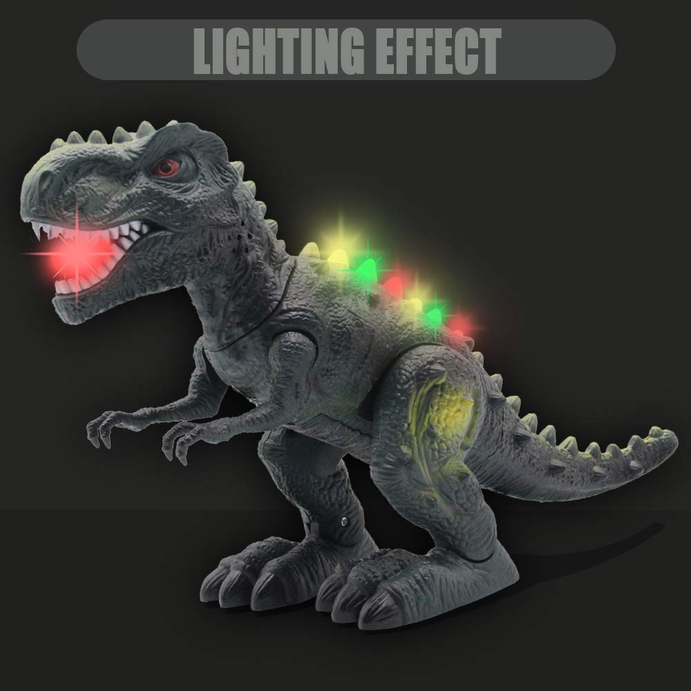CISAY Dinosaur Toys,D33 Electronic Real Walking Dinosaurs with LED Lights and Dinosaur Sounds by CISAY (Image #4)