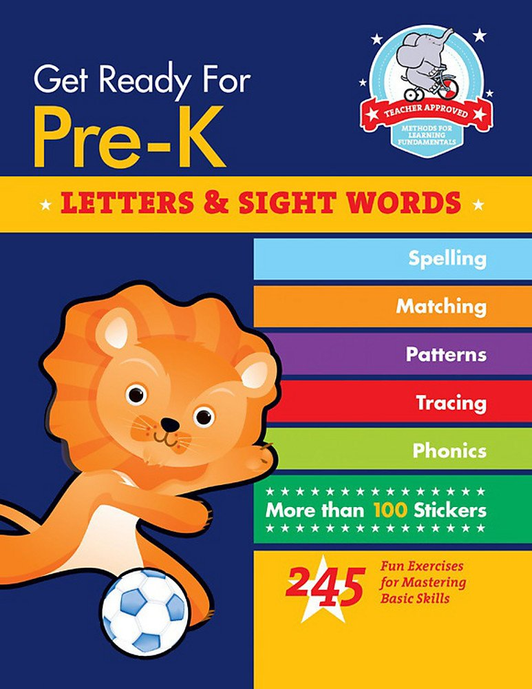 Download Get Ready for Pre-K: Letters & Sight Words: 245 Fun Exercises for Mastering Basic Skills (Get Ready for School) ebook