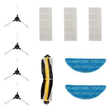 Kit de Accesorios para Robot Aspirador Bagotte I7 (4 Brochas Laterales + 2 Paños +