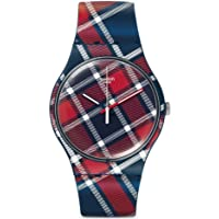 Swatch Men's SUON109 Color-Kilt Year-Round Analog Quartz Blue Watch