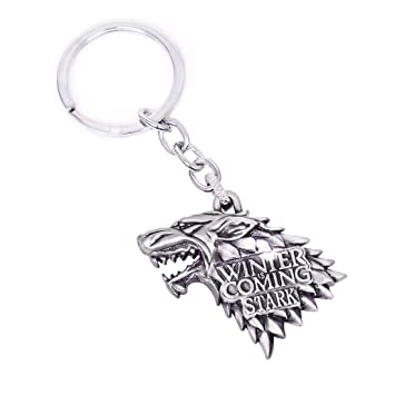 Cute Game of Thrones House Stark Keychain Pendant Accessories Charms Gifts for Boy Girl Best Friend and Collection