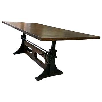 Esstisch Esszimmer Tisch Massiv Holz 220x100 Industrial Design Loft
