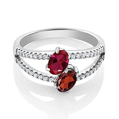 Sterling Silver Diamond Morganite Ring Emerald-cut 8x6mm, 1 2 inch wide, sizes 5-10