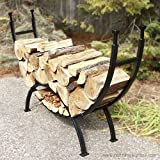 Woodeze Home Decorative Outdoor Fire Place Accessorie 69″ Curved Log Rack For Sale