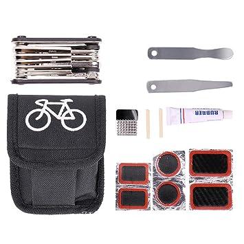 CHUANGE Kits de herramientas de reparación de bicicletas 16 en 1 ...
