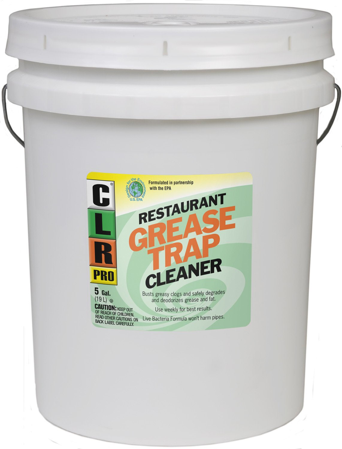 CLR Pro GRT-5Pro Commercial Drain Line and Grease Trap Treatment, 5 Gallon Pail by CLR (Image #1)